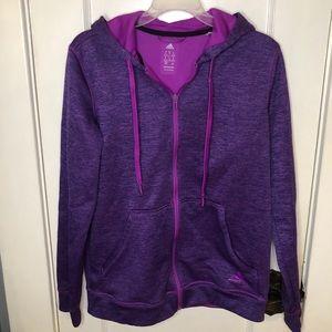 Purple Adidas Fleece Lined Zip Up Climawarm Hoodie